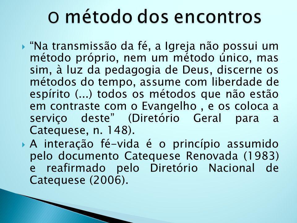 Na transmissão da fé, a Igreja não possui um método próprio, nem um método único, mas sim, à luz da pedagogia de Deus, discerne os métodos do tempo, a