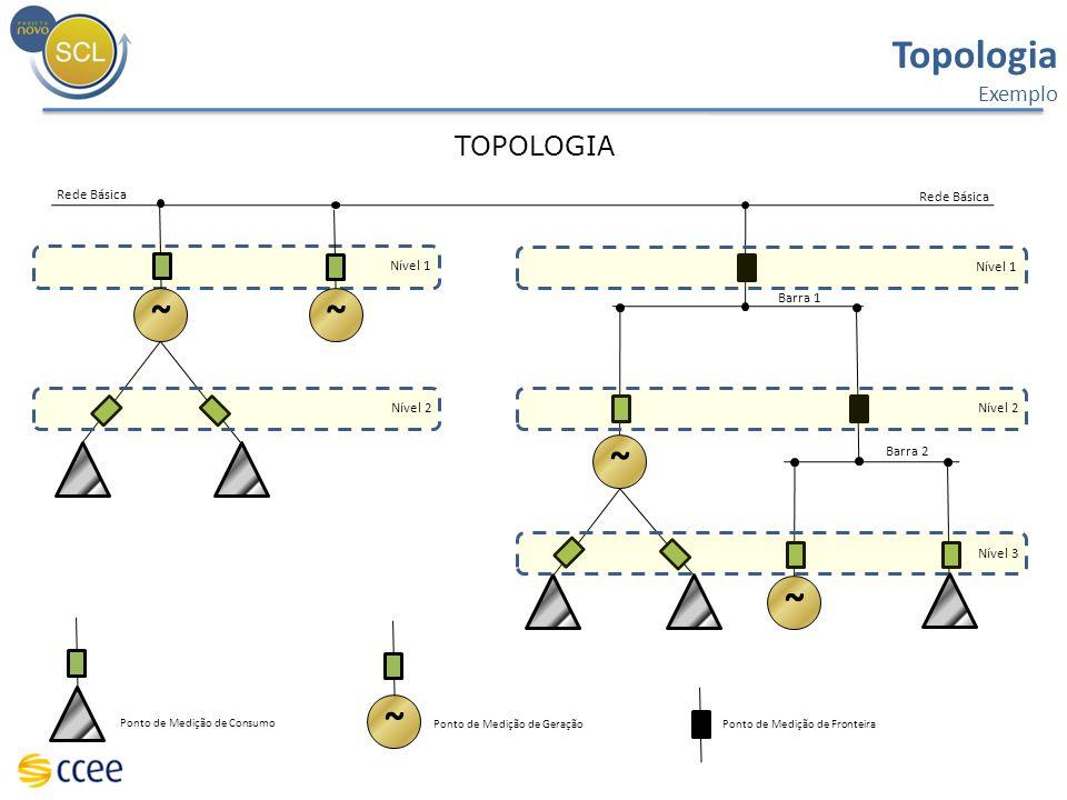 TOPOLOGIA Ponto de Medição de Geração Ponto de Medição de Consumo Rede Básica ~~ ~ ~ Ponto de Medição de Fronteira ~ Barra 1 Barra 2 Nível 1 Nível 2 N