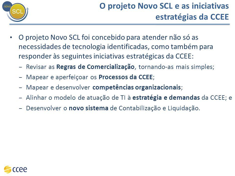O projeto Novo SCL e as iniciativas estratégias da CCEE O projeto Novo SCL foi concebido para atender não só as necessidades de tecnologia identificad