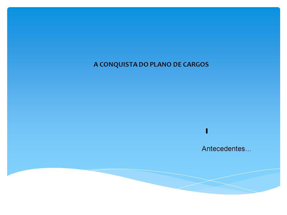 A CONQUISTA DO PLANO DE CARGOS I Antecedentes...