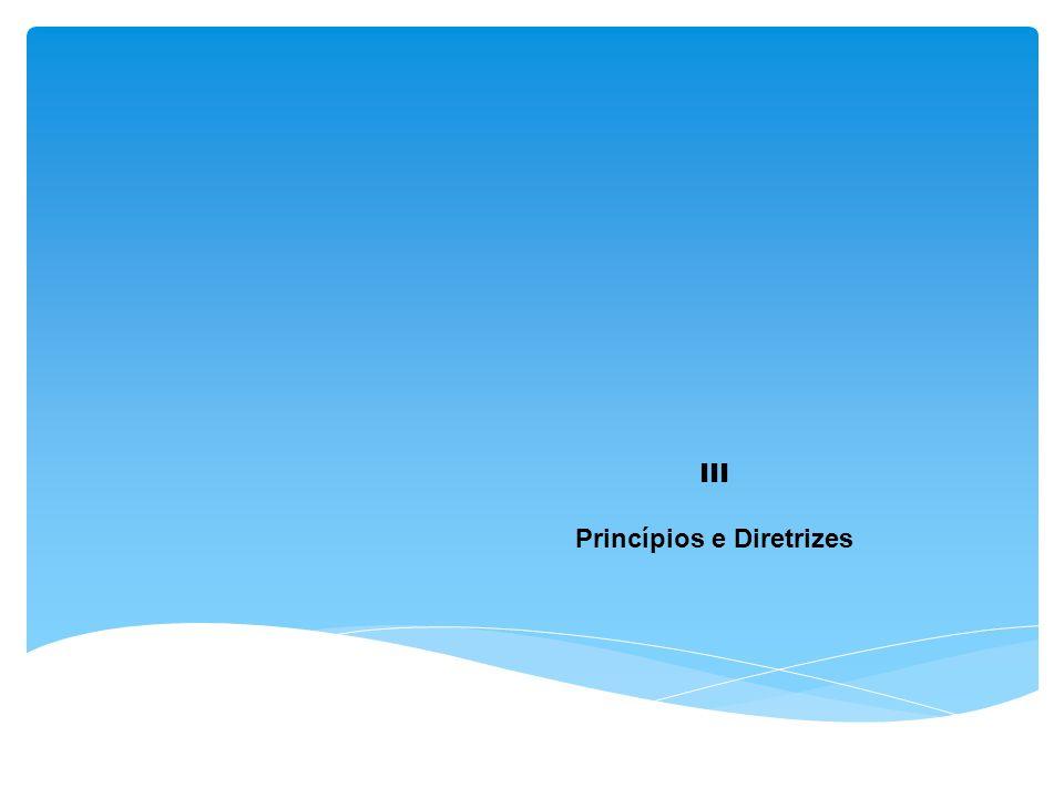 III Princípios e Diretrizes