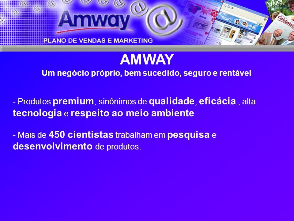 AMWAY Um negócio próprio, bem sucedido, seguro e rentável - Produtos premium, sinônimos de qualidade, eficácia, alta tecnologia e respeito ao meio amb