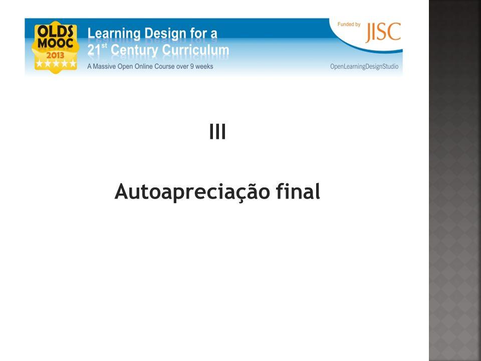 III Autoapreciação final