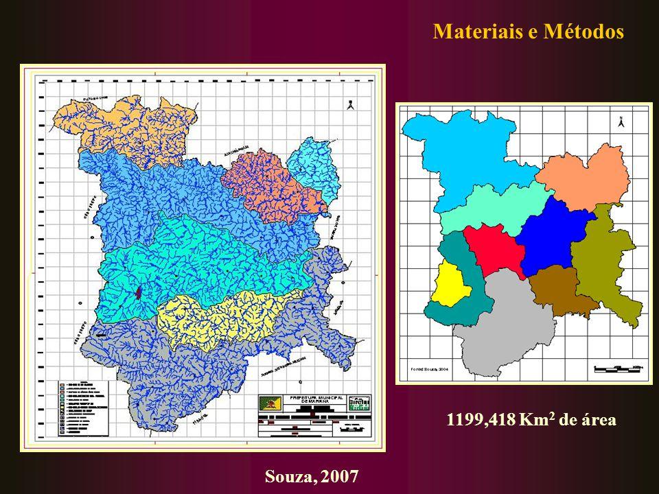 Souza, 2007 1199,418 Km 2 de área