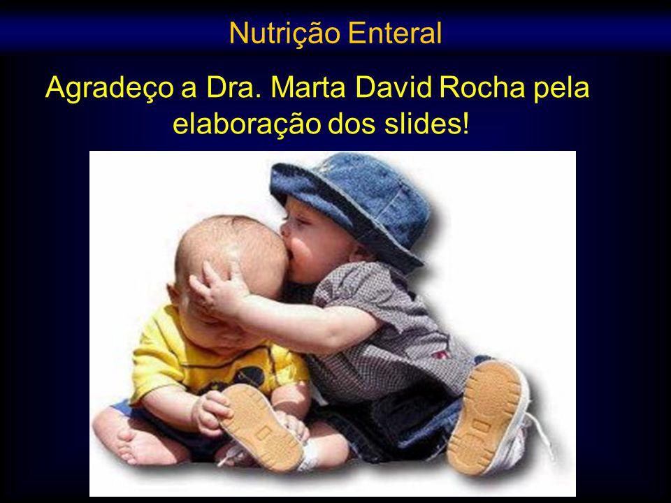 Agradeço a Dra. Marta David Rocha pela elaboração dos slides! Nutrição Enteral