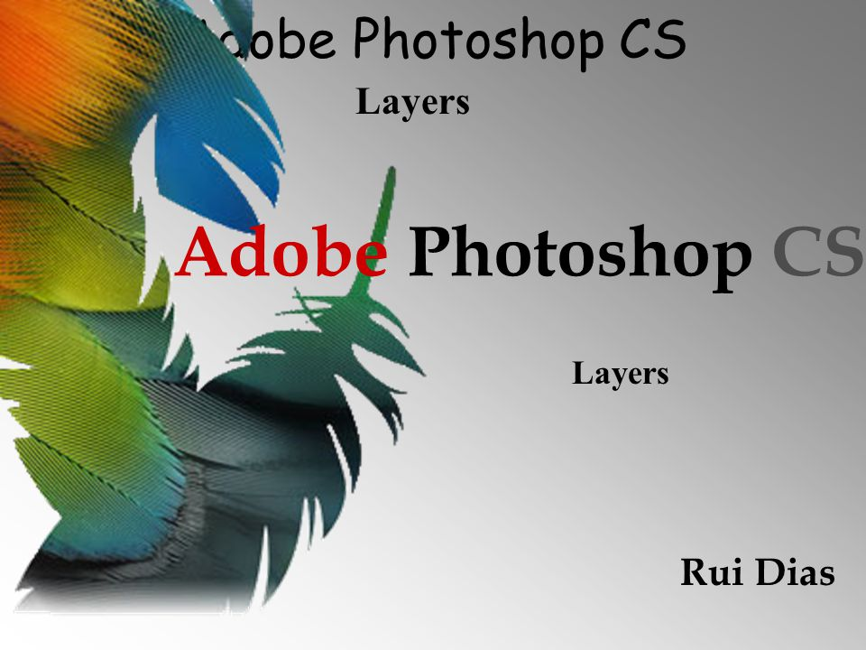 Adobe Photoshop CS Layers 2 As layers como já foi referido funcionam como folhas de acetato colocadas umas em cima das outras.