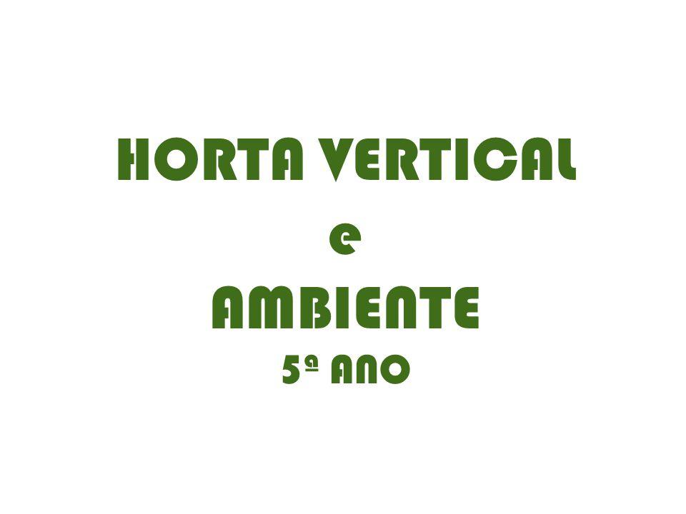 HORTA VERTICAL e AMBIENTE 5ª ANO