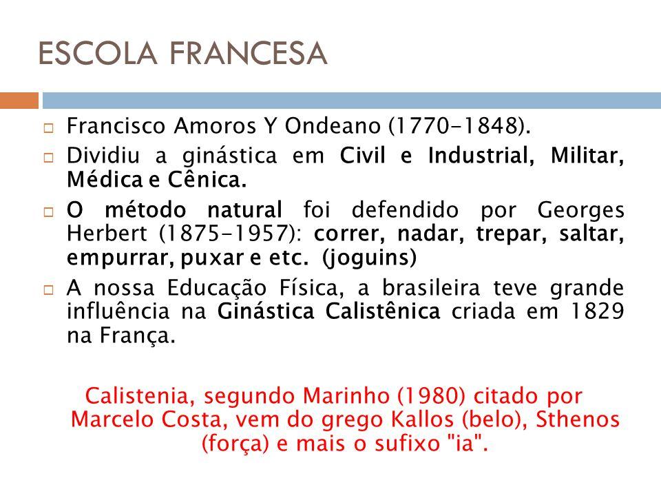 ESCOLA FRANCESA Francisco Amoros Y Ondeano (1770-1848).