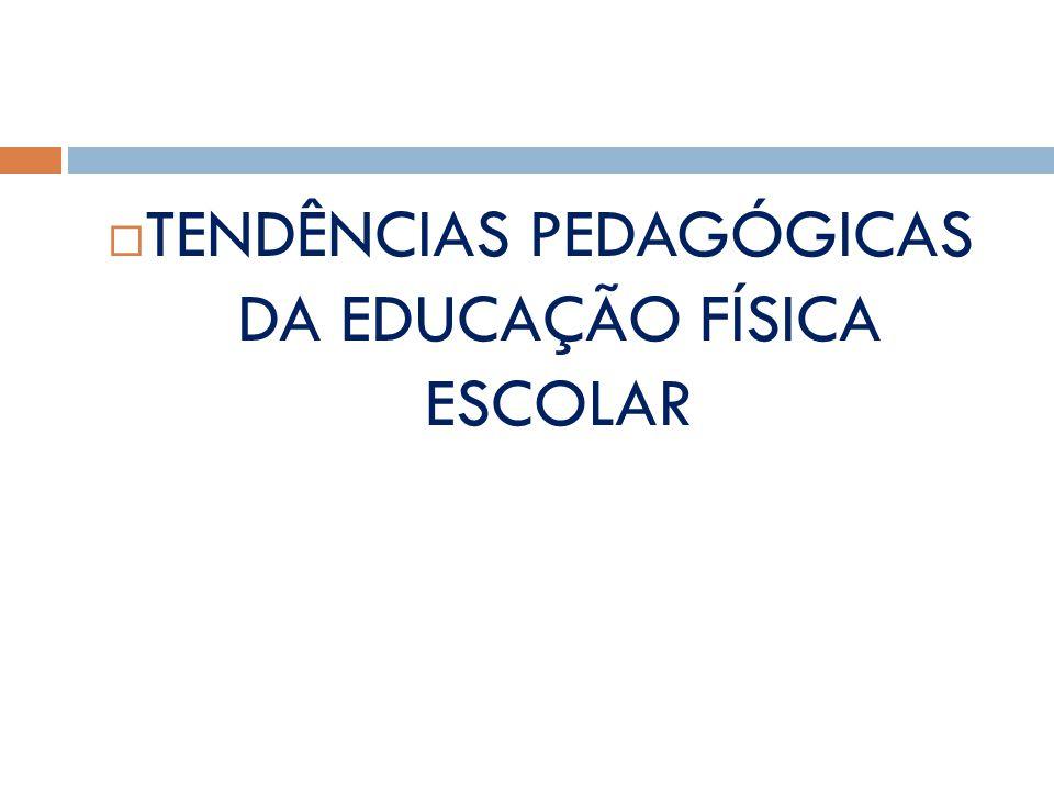TENDÊNCIAS PEDAGÓGICAS DA EDUCAÇÃO FÍSICA ESCOLAR