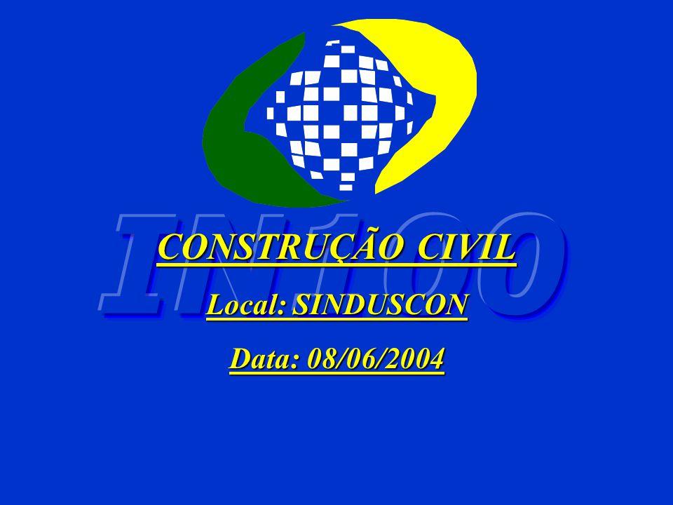 CONSTRUÇÃO CIVIL Local: SINDUSCON Data: 08/06/2004