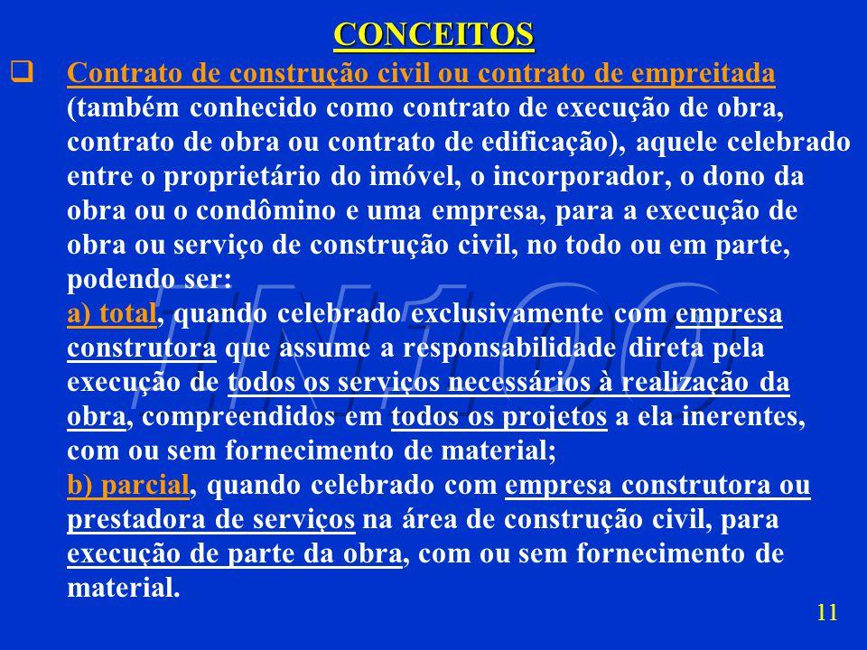 10CONCEITOS construção de edificação em condomínio, aquela executada na forma da Lei nº 4.591, de 1964, sob o regime condominial, de obra de construçã