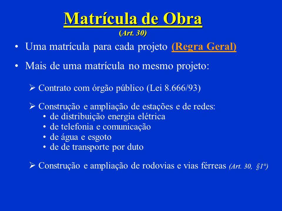 SEM MÃO-DE-OBRA REMUNERADA (Art. 476 e 477) Não há contribuição quando: Única residência de PF 70 m 2, uso próprio, tipo econômico ou popular (Sem CEI