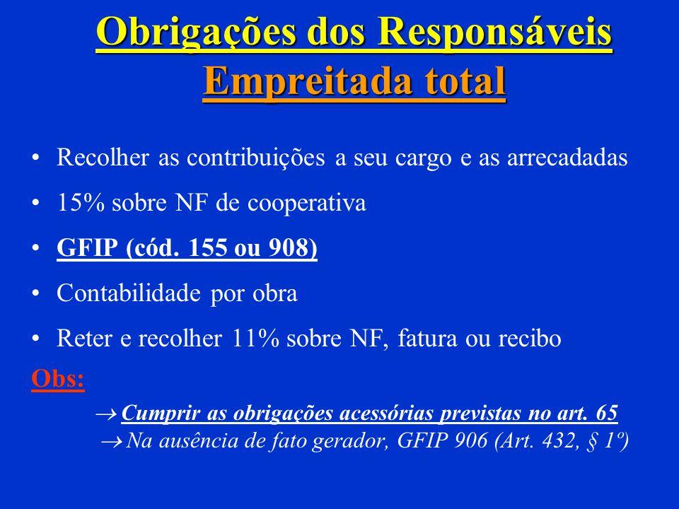 Responsáveis pela obra (Art. 430) Proprietário Dono ou executor da obra Incorporador Adquirente da unidade imobiliária não incorporada na forma da Lei
