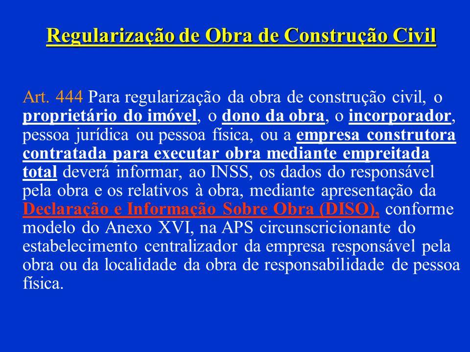 Rescisão de Contrato (Art. 485) Construtora deve regularizar a área já construída Nova matrícula CEI: Construtora em empreitada total se existir CND d