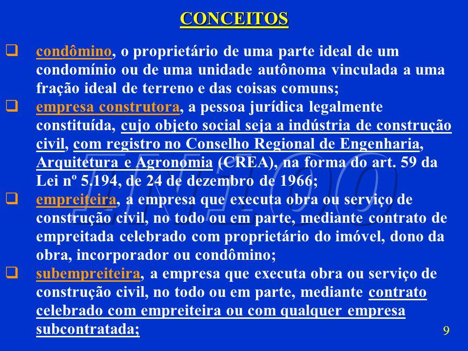 8CONCEITOS proprietário do imóvel, a pessoa física ou jurídica detentora legal da titularidade do imóvel; dono de obra, a pessoa física ou jurídica, n