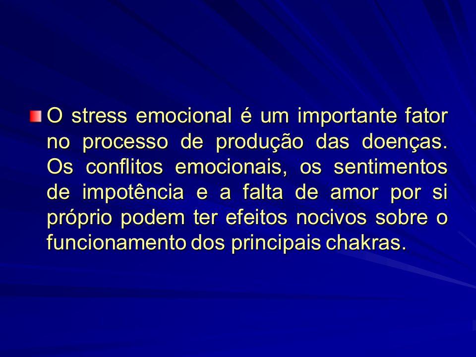 Como os chakras fornecem energia sutil aos diversos órgãos do corpo, os bloqueios e conflitos emocionais podem resultar num fluxo energético anormal para diversos sistemas fisiológicos.