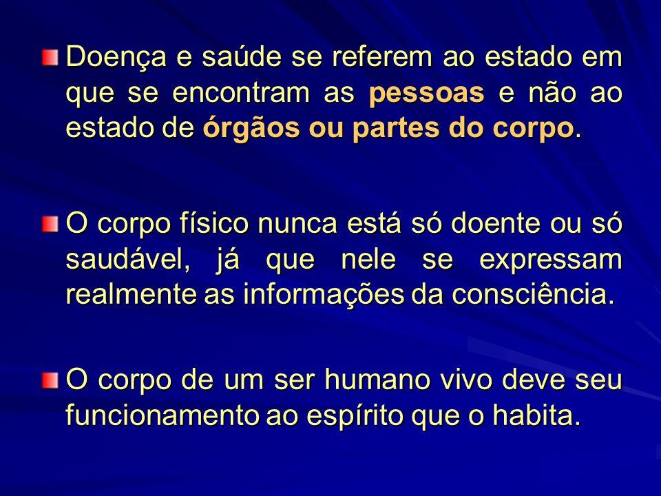 O que é saúde e o que é doença à luz da doutrina espírita?O que é saúde e o que é doença à luz da doutrina espírita.