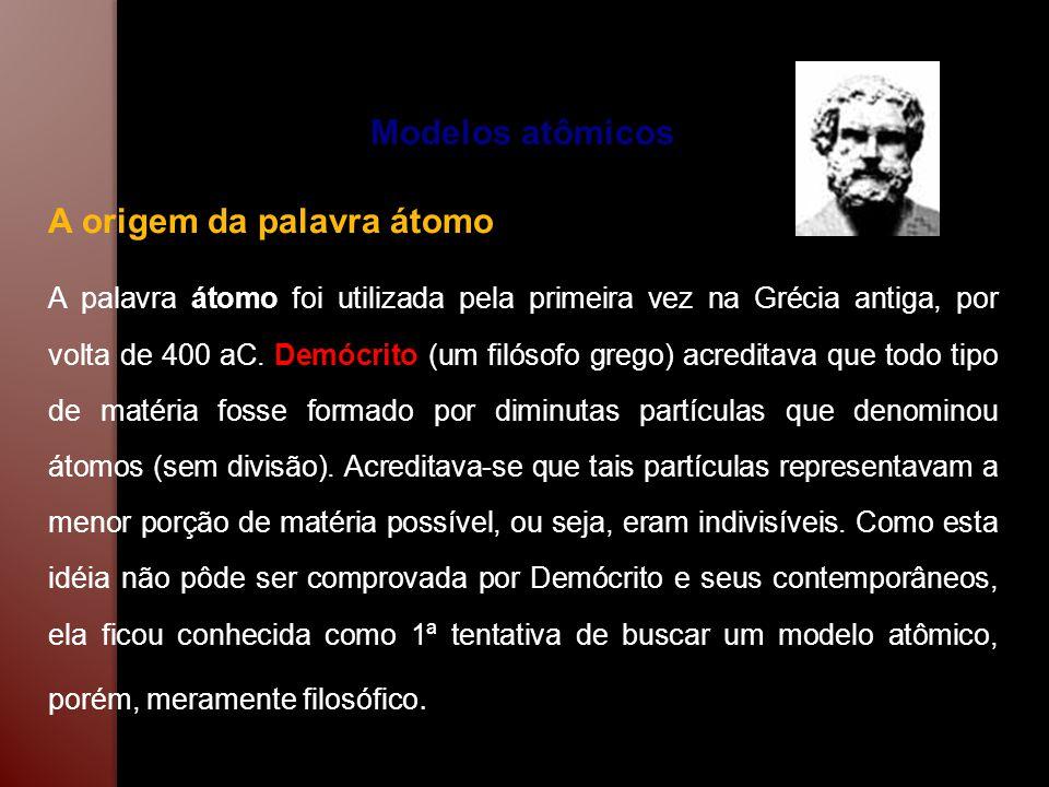 Modelo Atômico de Dalton As idéias de Demócrito permaneceram inalteradas por aproximadamente 2200 anos.