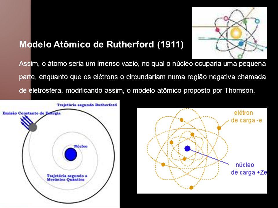 - Os Postulados de Niels Bohr (1885-1962) De acordo com o modelo atômico proposto por Rutherford, os elétrons ao girarem ao redor do núcleo, com o tempo perderiam energia, e se chocariam com o mesmo.