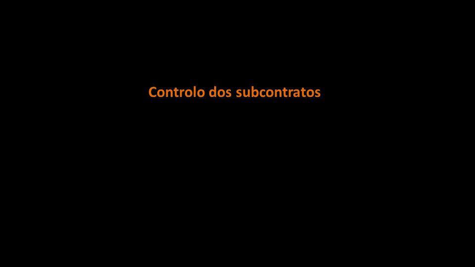 Controlo dos subcontratos