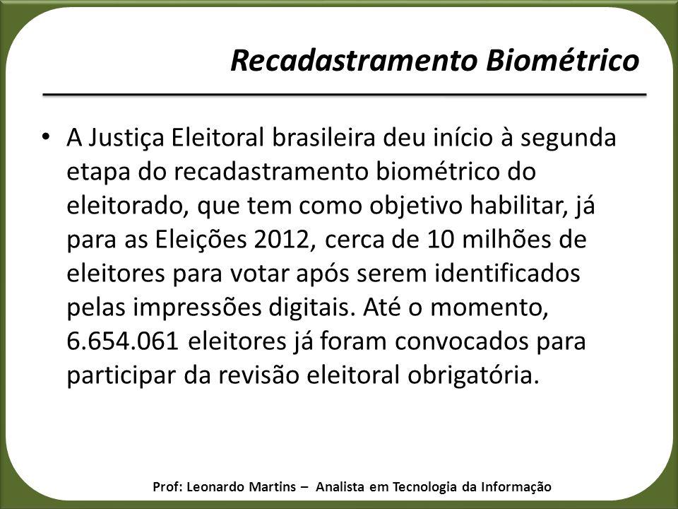 A Justiça Eleitoral brasileira deu início à segunda etapa do recadastramento biométrico do eleitorado, que tem como objetivo habilitar, já para as Ele