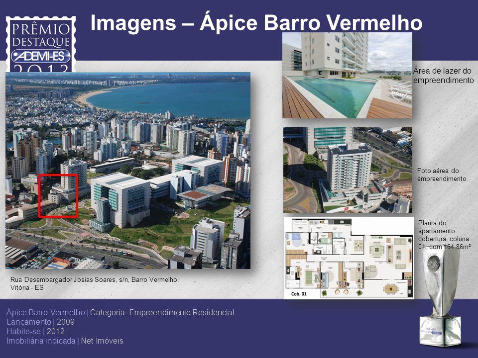 Rua Desembargador Josias Soares, s/n, Barro Vermelho, Vitória - ES Planta do apartamento cobertura, coluna 01, com 164,86m² Foto aérea do empreendimen