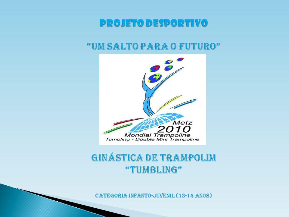 PROJETO Campeonato Mundial por Idades de Ginástica de Trampolim, dividido em quatro modalidades.