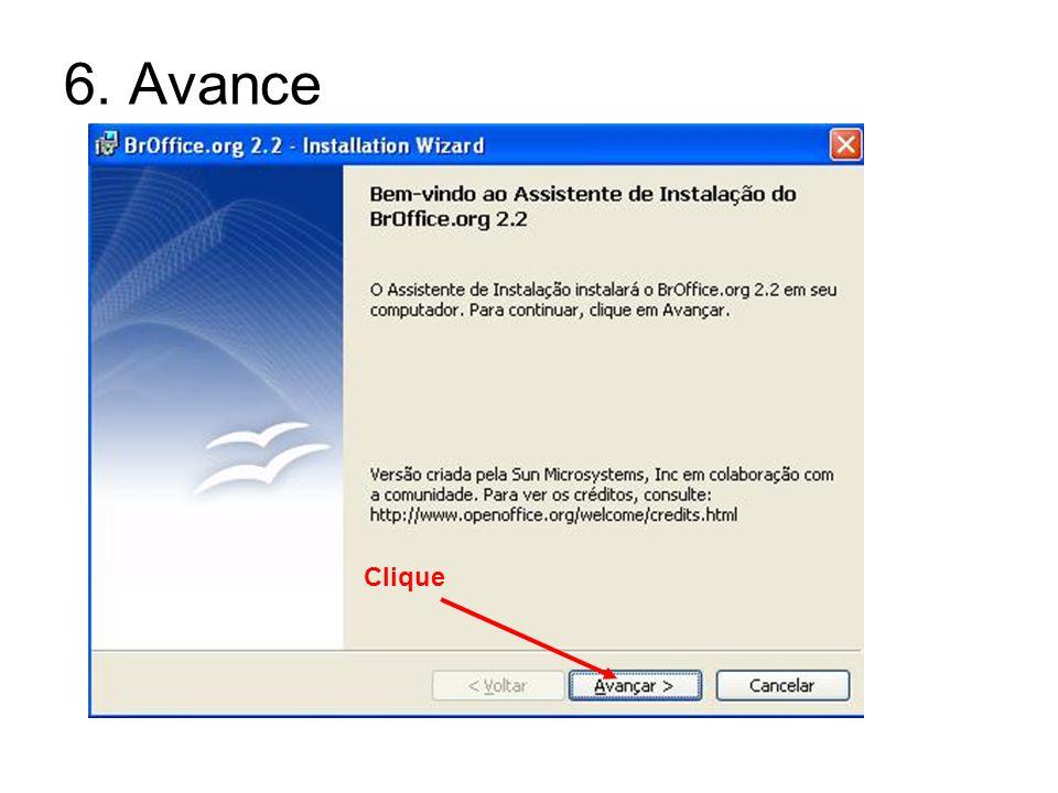 7. Aceite e Avance Clique