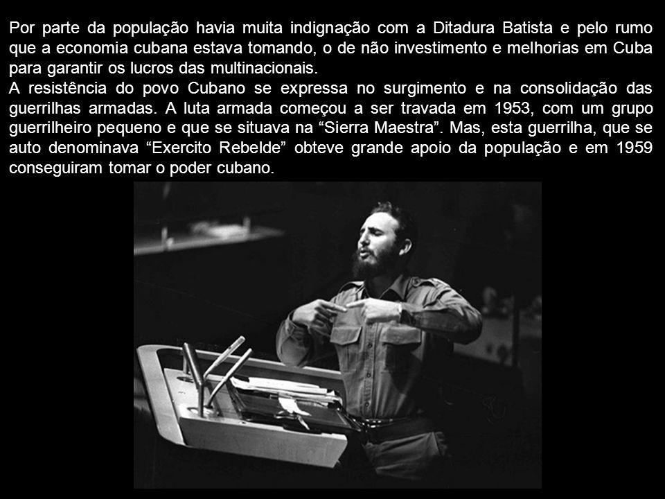 A resistência do povo Cubano se expressa no surgimento e na consolidação das guerrilhas armadas. A luta armada começou a ser travada em 1953, com um g