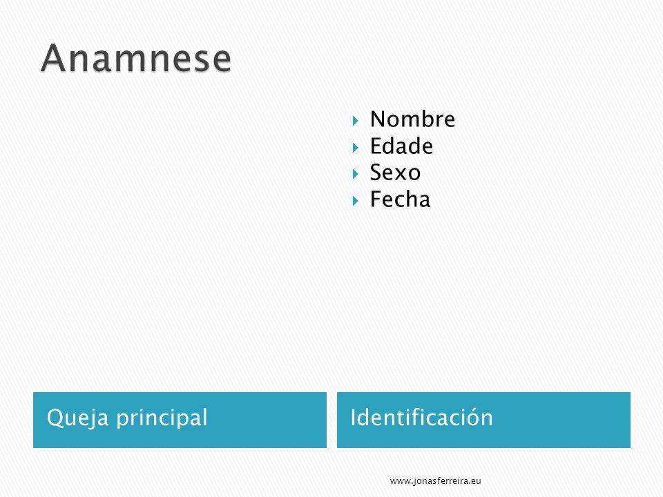 Queja principalIdentificación Nombre Edade Sexo Fecha www.jonasferreira.eu