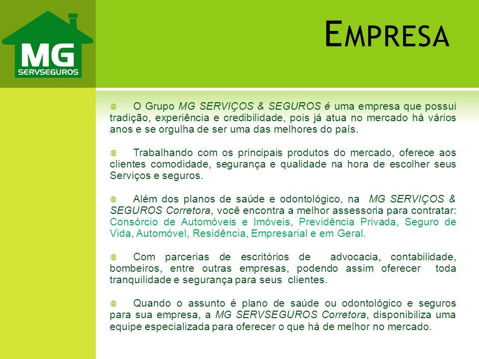 O Grupo MG SERVIÇOS & SEGUROS é uma empresa que possui tradição, experiência e credibilidade, pois já atua no mercado há vários anos e se orgulha de s