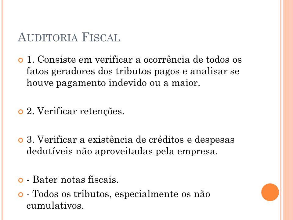 A UDITORIA F ISCAL 1.