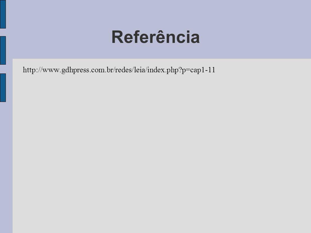 Referência http://www.gdhpress.com.br/redes/leia/index.php?p=cap1-11