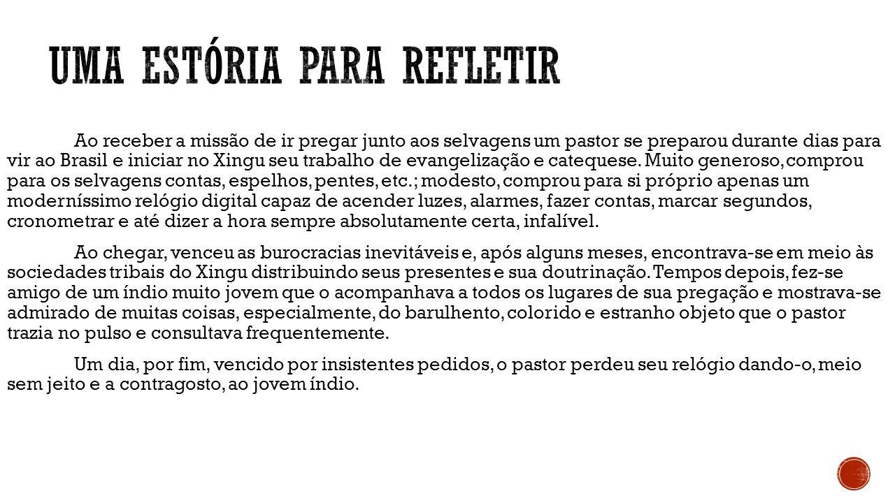 Ao receber a missão de ir pregar junto aos selvagens um pastor se preparou durante dias para vir ao Brasil e iniciar no Xingu seu trabalho de evangeli