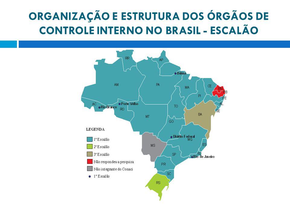 ORGANIZAÇÃO E ESTRUTURA DOS ÓRGÃOS DE CONTROLE INTERNO NO BRASIL - ESCALÃO