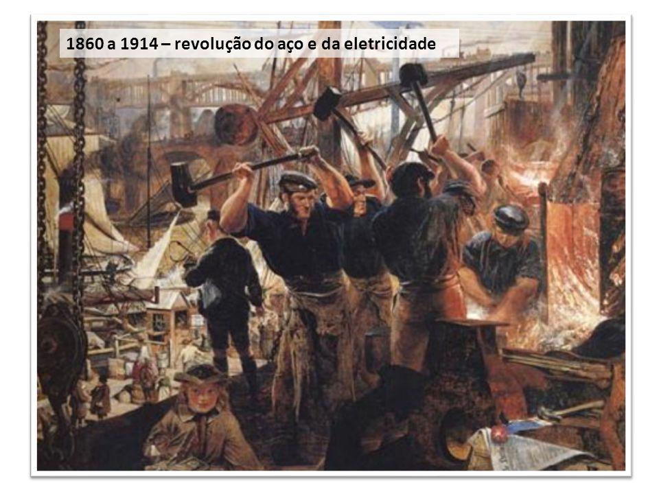 1860 a 1914 – revolução do aço e da eletricidade