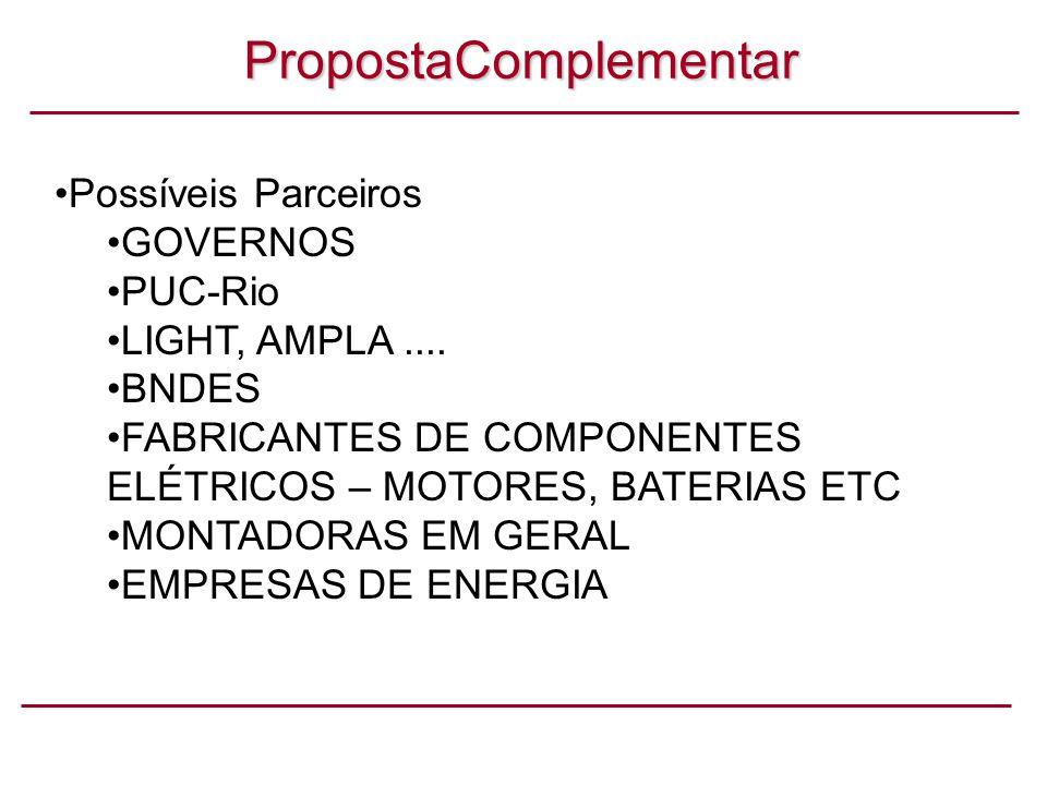 PropostaComplementar Possíveis Parceiros GOVERNOS PUC-Rio LIGHT, AMPLA....