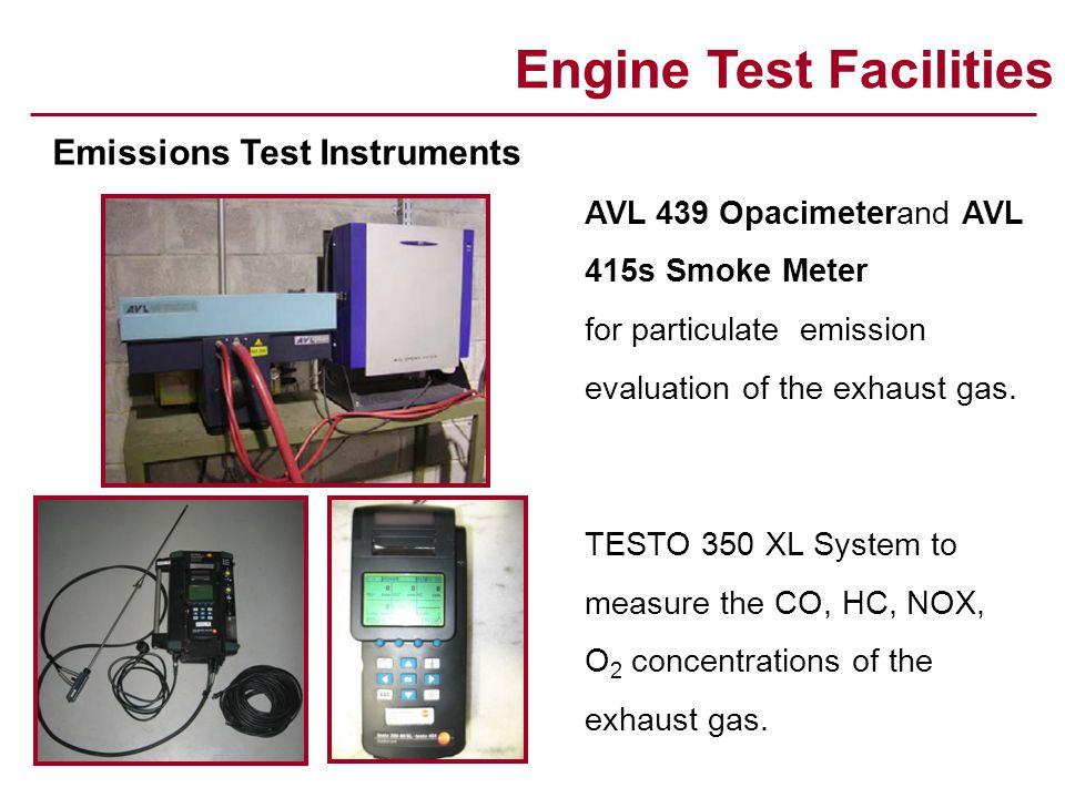 Combustion Test Facilities Rapid Compression Machine – Testem / High Speed Camera - Photron