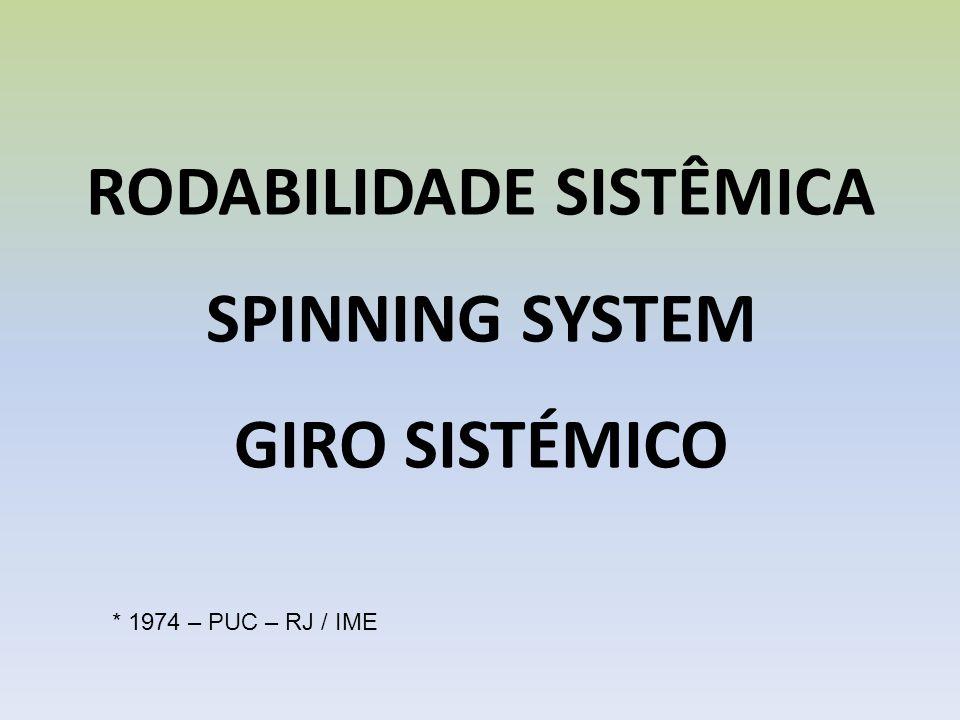 RODABILIDADE SISTÊMICA SPINNING SYSTEM GIRO SISTÉMICO * 1974 – PUC – RJ / IME