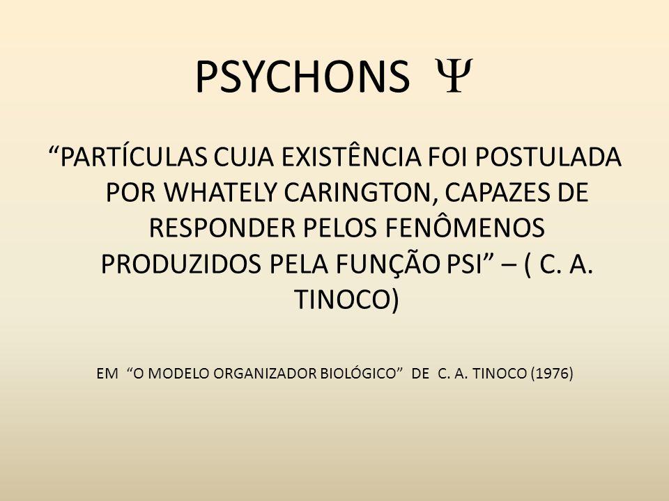PSYCHONS PARTÍCULAS CUJA EXISTÊNCIA FOI POSTULADA POR WHATELY CARINGTON, CAPAZES DE RESPONDER PELOS FENÔMENOS PRODUZIDOS PELA FUNÇÃO PSI – ( C. A. TIN
