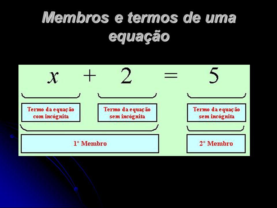 Copia e completa o quadro: EquaçãoIncógnita1.º membro2.º membro Termos do 1.º membro Termos do 2.º membro -2a-3 = a+1 -5y = 0 -2c+1 = -1 y = 4-2y -2x+1-x-x 3x; -15x;5 a-2a-3a+1 -2a ; -3 a ; 1 y-5y0 0 c-2c+1 -2c ; 1 yy 4-2y y 4 ; -2y x -2x ; 1 -x-2x+1=-x 3x-1=5x+53x-15x+5x