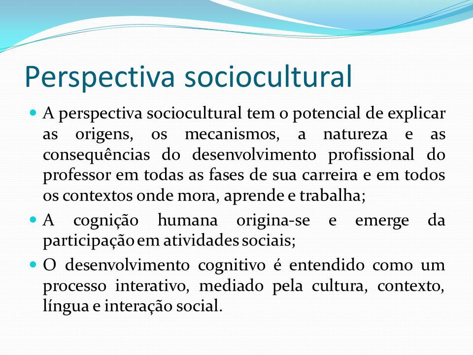 Perspectiva sociocultural A perspectiva sociocultural tem o potencial de explicar as origens, os mecanismos, a natureza e as consequências do desenvol