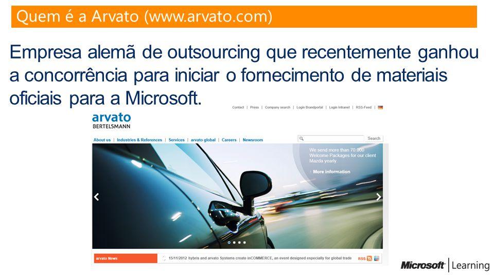Empresa alemã de outsourcing que recentemente ganhou a concorrência para iniciar o fornecimento de materiais oficiais para a Microsoft. Quem é a Arvat