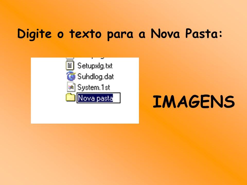 Digite o texto para a Nova Pasta: IMAGENS