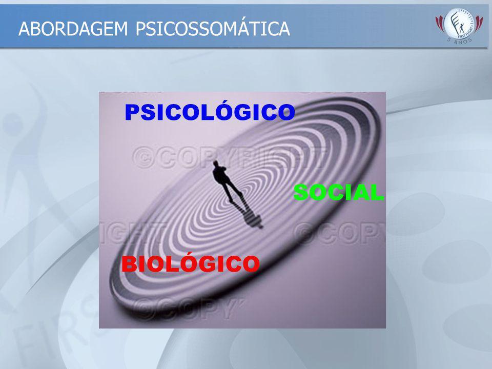 PSICOLÓGICO BIOLÓGICO SOCIAL ABORDAGEM PSICOSSOMÁTICA