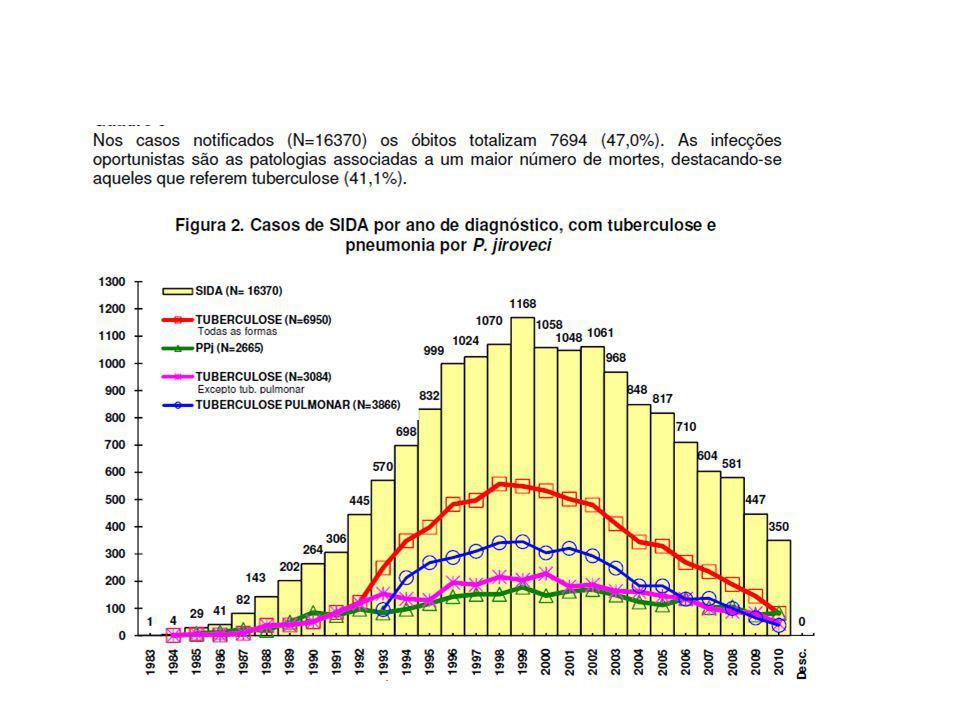CASOS NOTIFICADOS EM PORTUGAL Total acumulado dos casos notificados de infecção pelo vírus da imunodeficiência humana segundo a classificação epidemiológica (PA, Sintomáticos Não-SIDA e SIDA), ano de diagnóstico e estado vital CVEDT_ INSA: relatório 2010