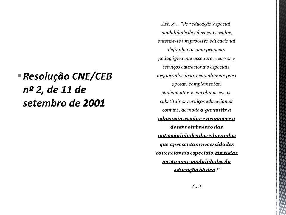 Resolução CNE/CEB nº 2, de 11 de setembro de 2001