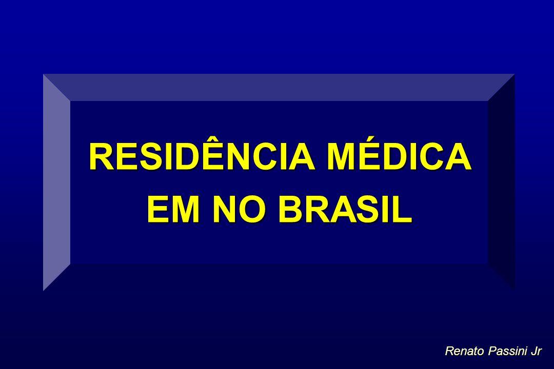 RESIDÊNCIA MÉDICA EM NO BRASIL Renato Passini Jr