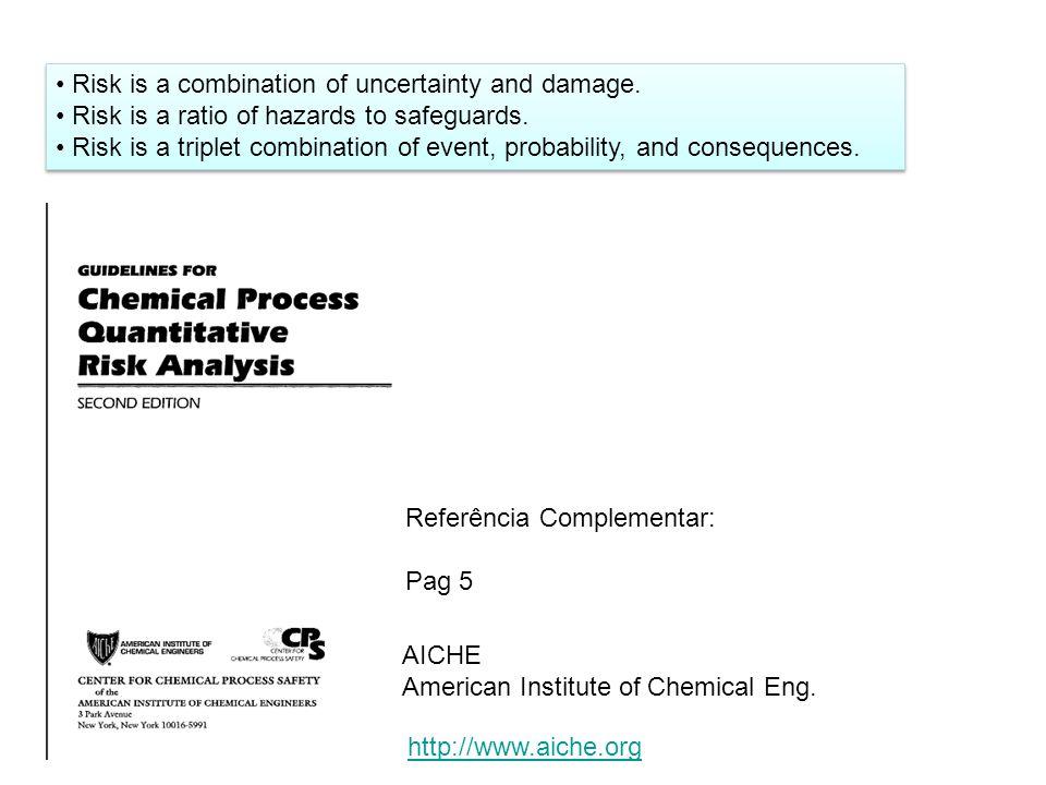 Perigo - inerente a presença do agente (químico, físico, biológico).