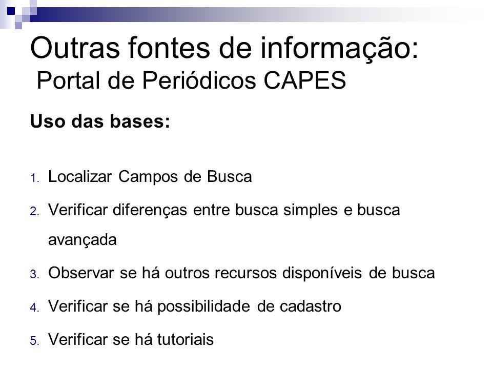 Uso das bases: 1.Localizar Campos de Busca 2.